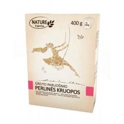 NATURE perlinės kruopos, 4*100 g.
