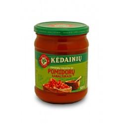 KĖDAINIŲ K.F. pomidorų padažas su pomidorų gabaliukais, 500 g.