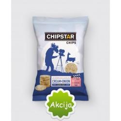 CHIPSTAR ryžių traškučiai , su grietine ir svogūnais, 60 g.