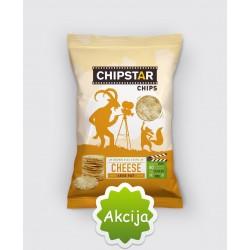 CHIPSTAR ryžių traškučiai , su sūriu, 60 g.