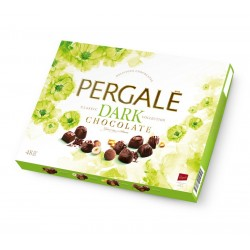 PERGALĖ  saldainių rinkinys su juoduoju šokoladu, 373 g.