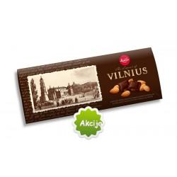 LAIMA kartusis šokoladas , su migdolais, Vilnius, 200 g.