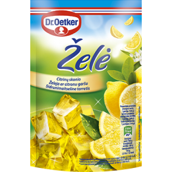 DR. OETKER želė , citrinų sk., 77 g.