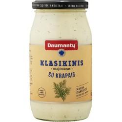 DAUMANTŲ KLASIKINIS majonezas, (pusriebis su krapais), 420 g.