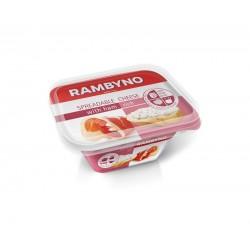 *RAMBYNO lydytas tepamas sūrelis (su kumpiu), 175 g.