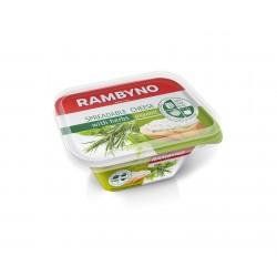 *RAMBYNO tepamas sūrelis (su žalumynais), 50%, 175 g.