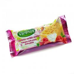 *VARĖNOS varškės sūrelis (su baltu glaistu ir aviečių gabaliukais),...