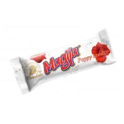 *MAGIJA glaistytas varškės sūrelis (su aguon.), 45 g.