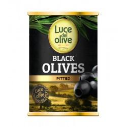 LUCE DEL OLIVE juodosios alyvuogės be kauliukų, 280 g.