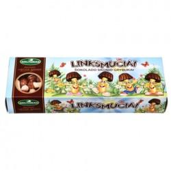 """GRYBUKAI """"Linksmučiai"""" sausainiai (juodojo šokolado skonio), 170 g."""