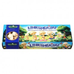 """GRYBUKAI """"Linksmučiai"""" sausainiai (baltojo šokolado skonio), 170 g"""