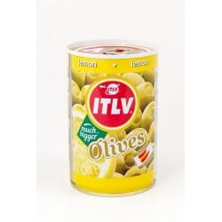 ITLV žaliosios alyvuogės su citrinos įdaru, 300 g