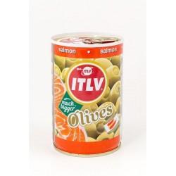 ITLV žaliosios alyvuogės su lašišos įdaru, 300 g