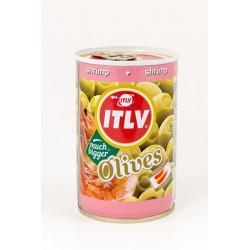 ITLV žaliosios alyvuogės su krevečių įdaru, 300 g