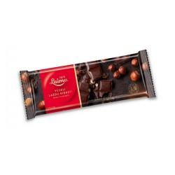 LAIMA juodasis šokoladas , su sveikais lazdyno riešutais, 200 g