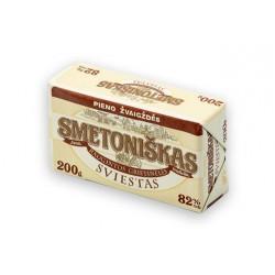 *SMETONIŠKAS raugintos grietinėlės sviestas, 82% rieb., 200 g