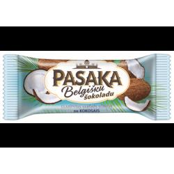 *PASAKA glaistytas varškės sūrelis (su kokosais), 21 %., 45 g.