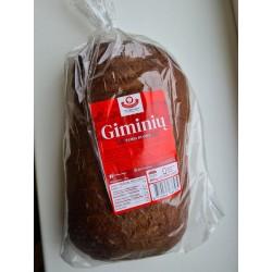 """""""Vilniaus duona"""" GIMINIŲ tamsi duona, 800 g"""