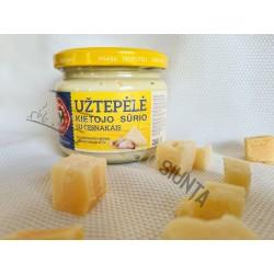 *KĖDAINIŲ K.F. kietojo sūrio užtepėlė (su česnakais), 280 g.
