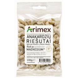 ARIMEX anakardžių riešutai, 100 g.